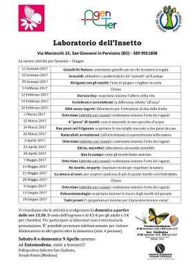 programma delle iniziative Gennaio-Giugno 2017